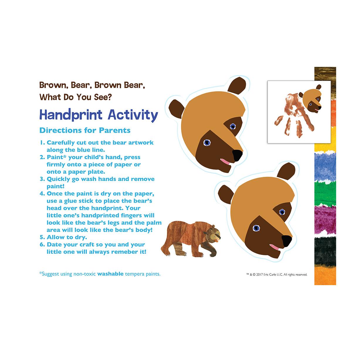 Brown Bear Hand Print
